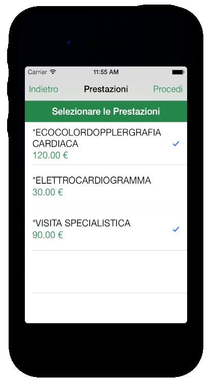 Esempio di installazione su dispositivo iPhone
